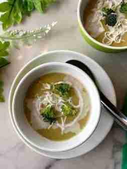 Creamy and healthy broccoli soup