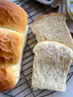 Eggless milk loaf
