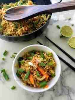 Fried rice pad thai style