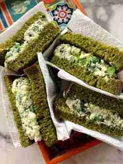 Palak paneer sandwich (Spinach and paneer sandwich)