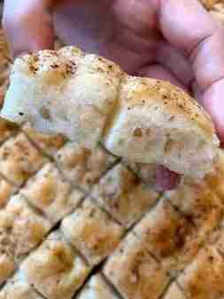 Focaccia bites and cheesy masala pav