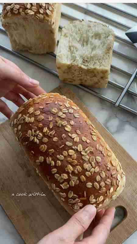 Softest oats and whole-wheat sandwich loaf