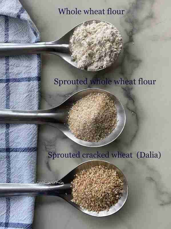 Homemade sprouted whole wheat flour